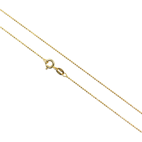 Gold Plated Chain 1.0 mm, Italian 925 Sterling Silver
