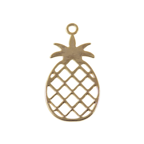 Gold-filled pineapple pendant