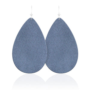 Denim Daze Teardrop Leather Earrings