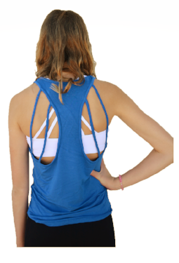 Bright Blue Strappy Back Tank Top