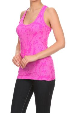 Bright Pink Racerback Tank Top