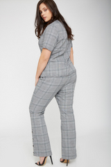 UNIQUE21 HERO Tailored Check High Rise Trouser