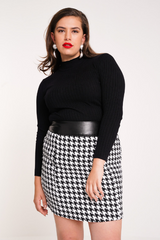 UNIQUE21 HERO Houndstooth Skirt