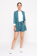 Green Stripe Tailored Blazer