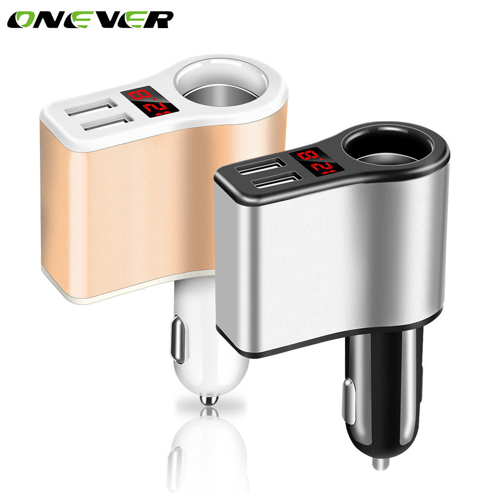 Onever 12-24V 120W Car Splitter Cigarette Lighter Socket Plug Adapter