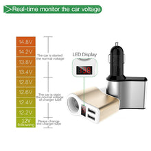 Load image into Gallery viewer, Onever 12-24V 120W Car Splitter Cigarette Lighter Socket Plug Adapter