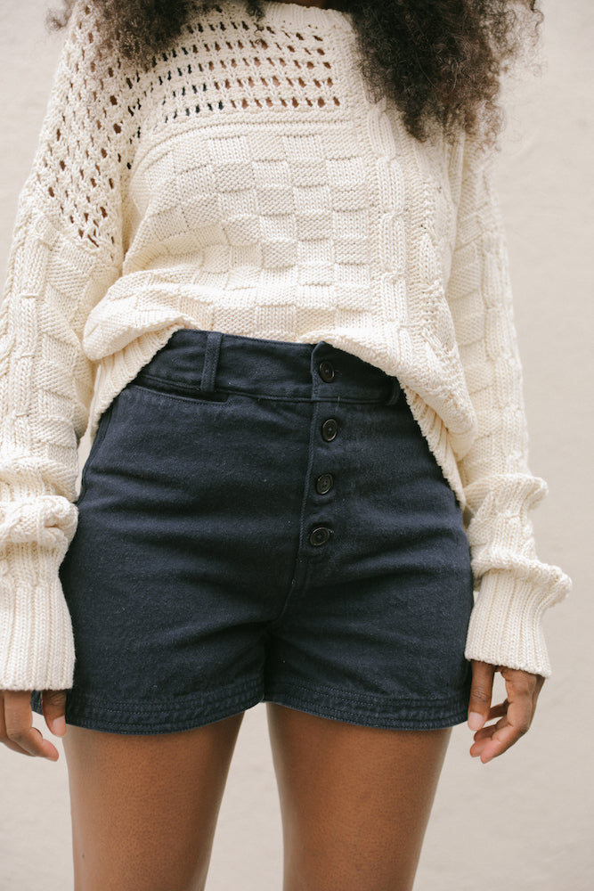 GIA CABLE KNIT SWEATER CREAM