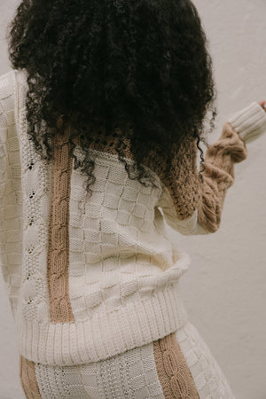 GIA CABLE KNIT SWEATER CREAM/SAND