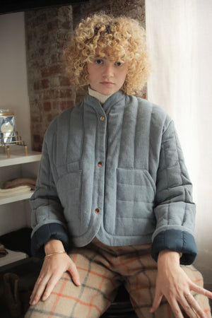 REVERSIBLE QUILTED JACKET DENIM