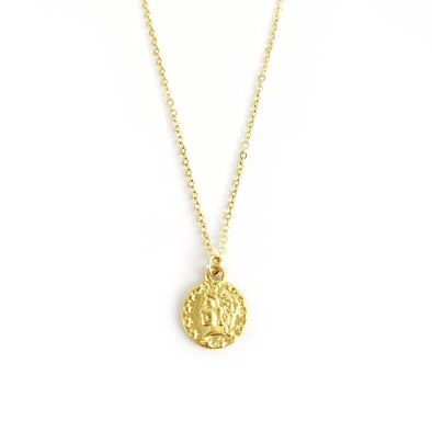 Ceasar Gold Pendant Necklace
