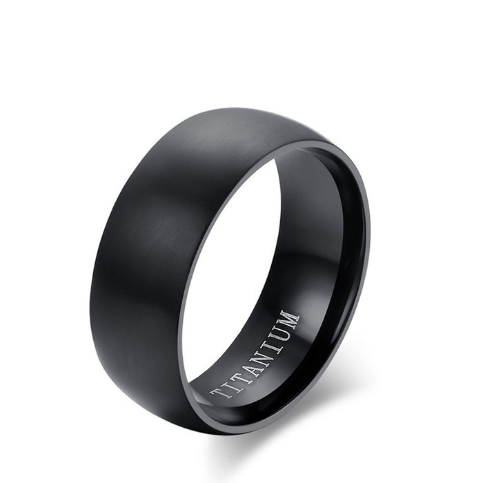 Mens High Quality Black Ring