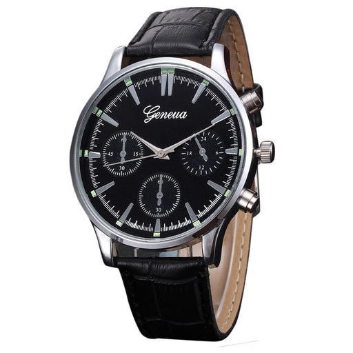 Mens Geneva Quartz Watch