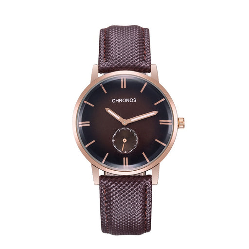 Mens Casual Watch Leather Band