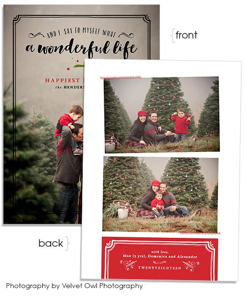 A Wonderful Life 5x7 Flat Card and Address Label
