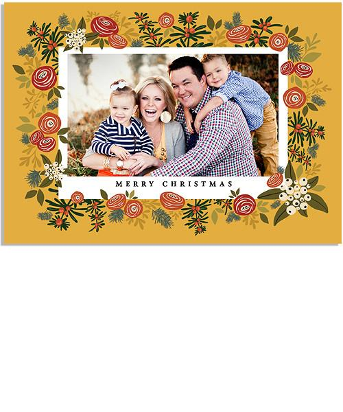 Christmas Blooms 7x5 Flat Card and Address Label