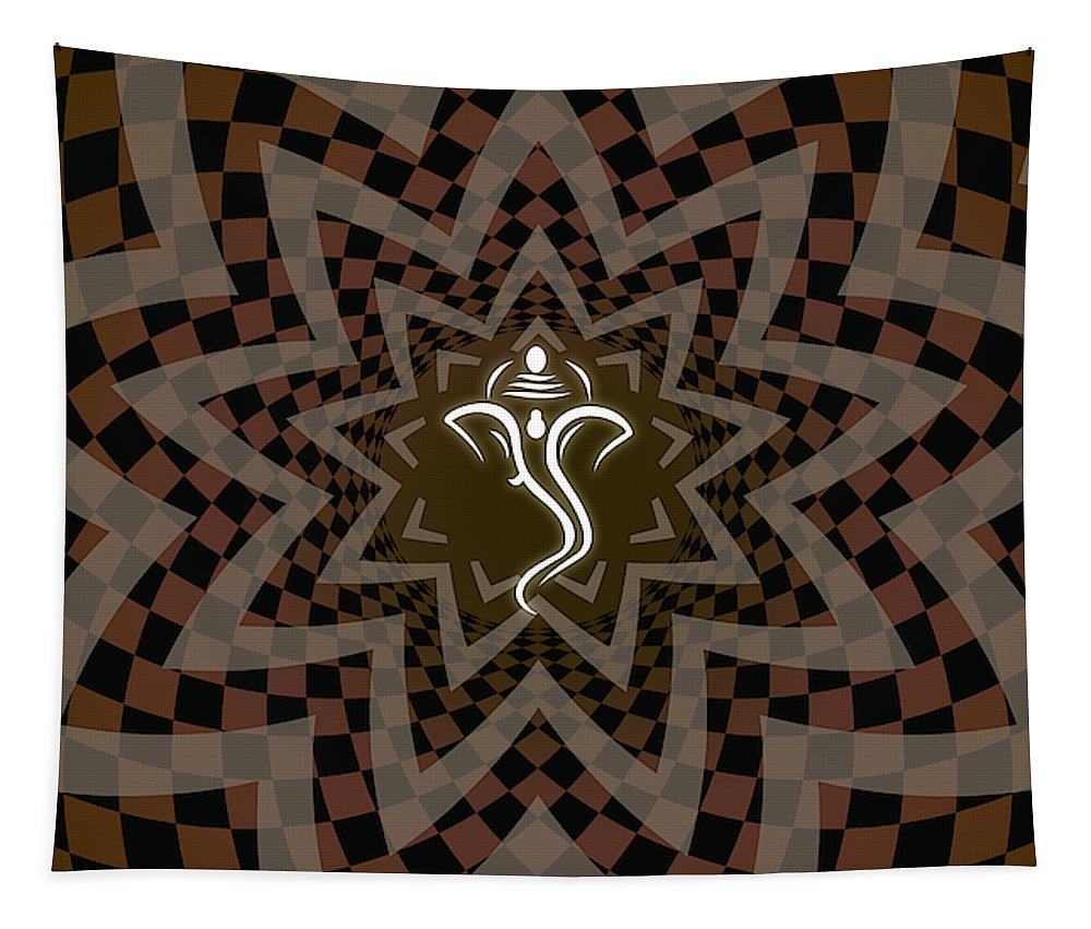Ganesh Lotus - Wall Tapestry