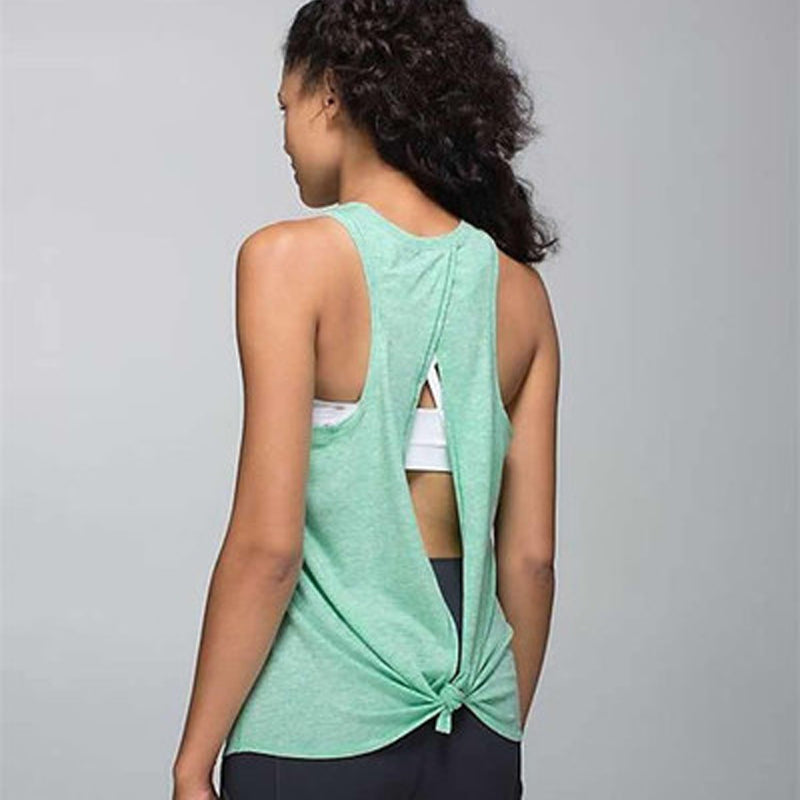 Open Back Exercise Top