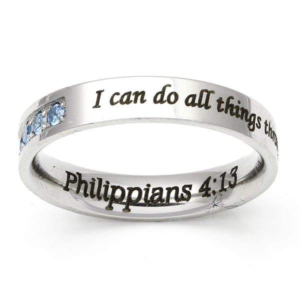 Seven Stone Ring - Philippians 4-13 Ring