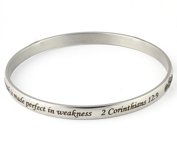 My grace is sufficient for you bangle bracelet