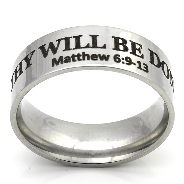 Thy Will Be Done Scripture Ring