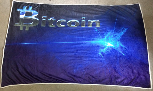 Custom Designed Bitcoin Blanket - MyCryptoMarket.ca