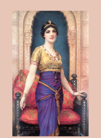 Egyptian Priestess Royal Banner Tapestry Wall Hanging by Wm Wontner 1924