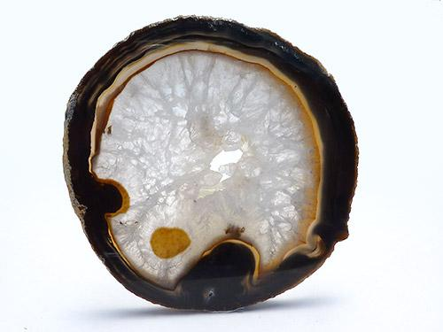 Agate Slice Large N - Natural Black