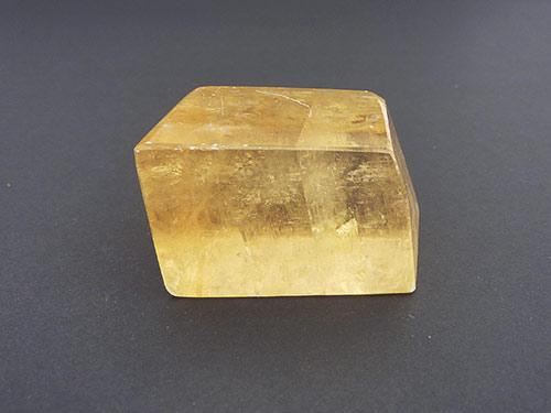 Golden Calcite Rhombic Cubes - Polished A