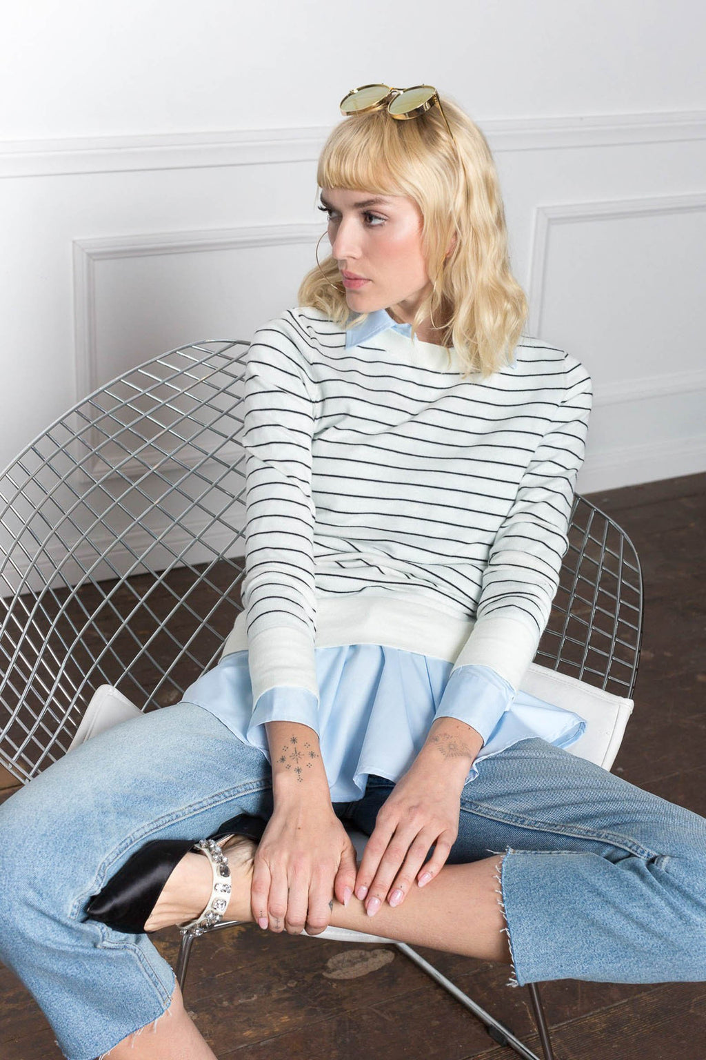 Hampton Ivory Sweater in Knitwear by J.ING - an L.A based women's fashion line