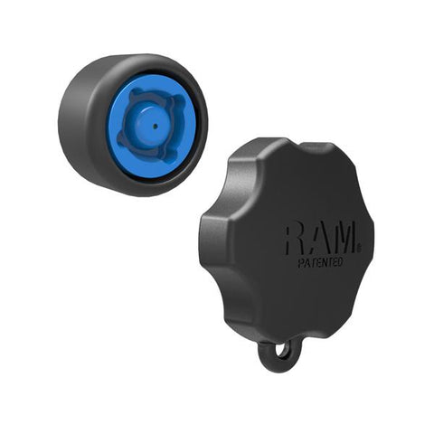 "4 RAM Pin-Lock Security Knob and Key Knob for 1.5"" Diameter C Size Arms (RAP-S-KNOB5-4U) - RAM Mounts Asia Pacific"