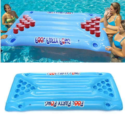 Inflatable Pool Beer Pong Table
