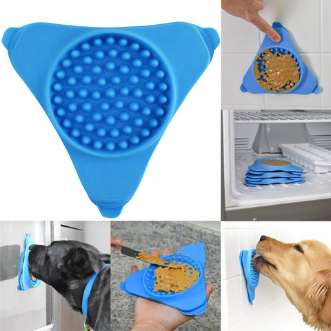 Lickable Wall-Mounted Dog Treat Dispenser
