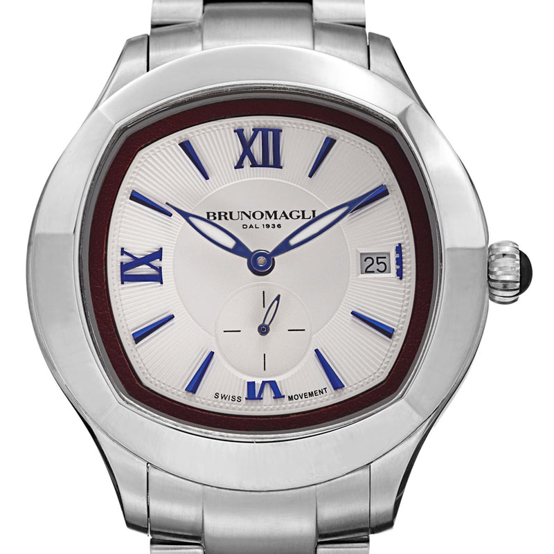 1041 Watch, Silver/Blue Dial