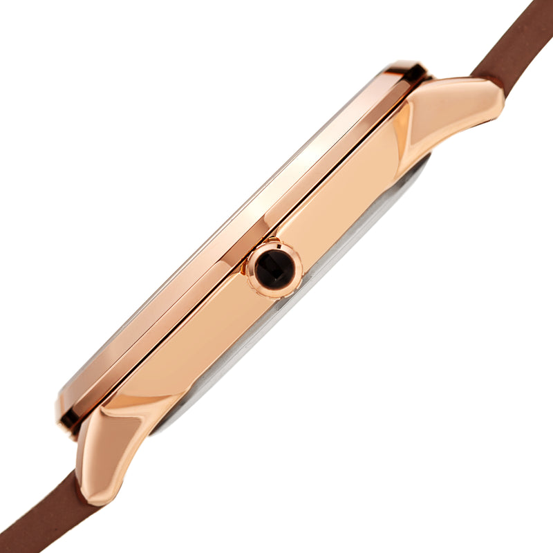 Men's Roma Watch - Dark Brown & Rose Gold