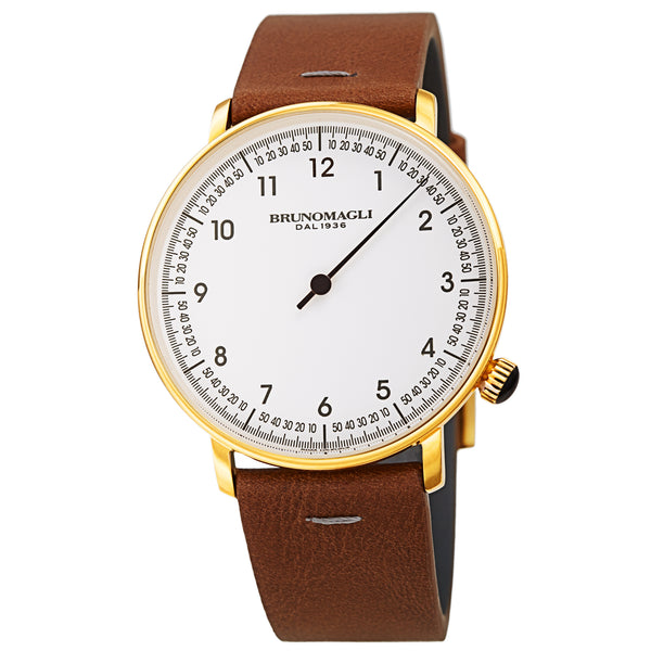 Men's Roma Watch - Gold-Tone/Brown