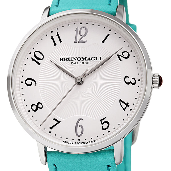 Roma 1221 Watch, Turquoise Strap