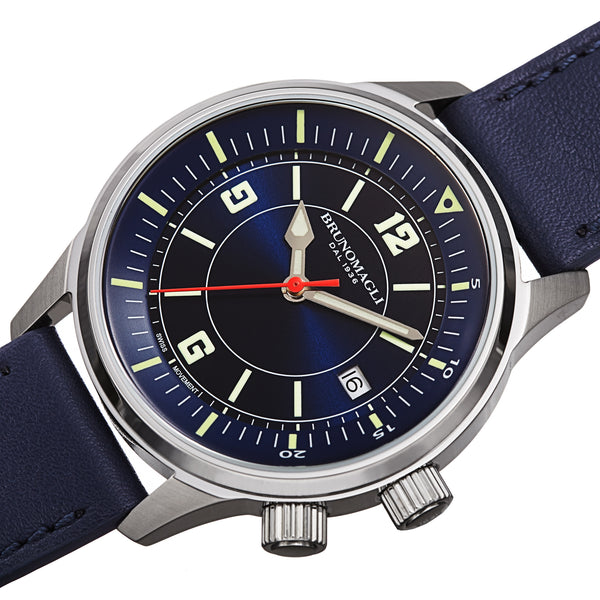 Men's Vittorio Watch - Silver-Tone/Blue