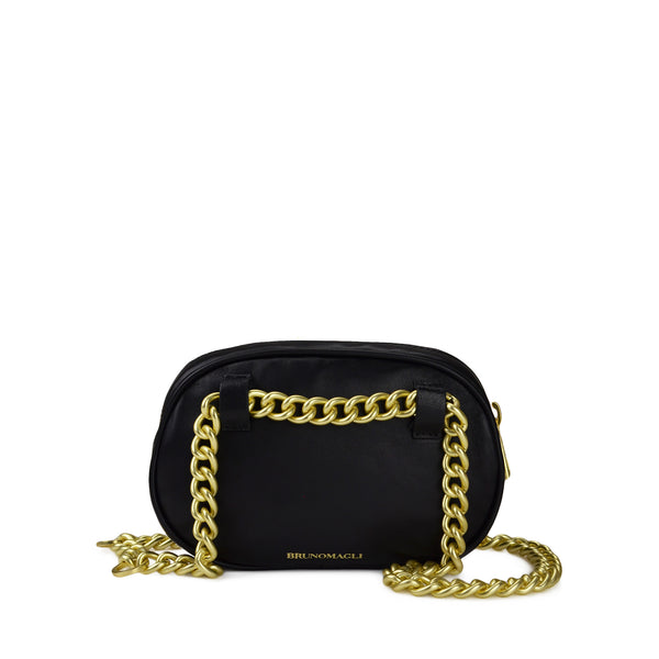 Quilted Belt Bag with Chain - Black - Online Exclusive - FINAL SALE
