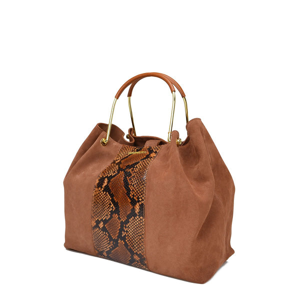Metal Handle Small Tote - Soho Exclusive