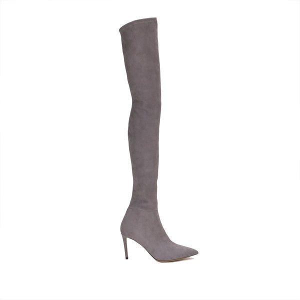 Alberta Over-the-Knee Suede Boot, 3-inch - Grey Suede
