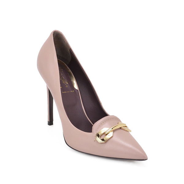 Alina Leather Pump, 4-Inch - FINAL SALE - Nude Leather