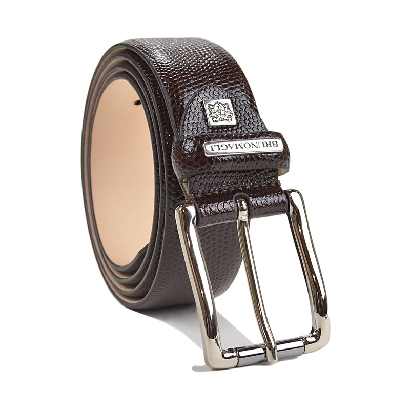 Textured Leather Men's Belt