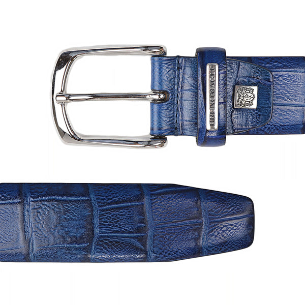 Embossed Leather Men's Belt