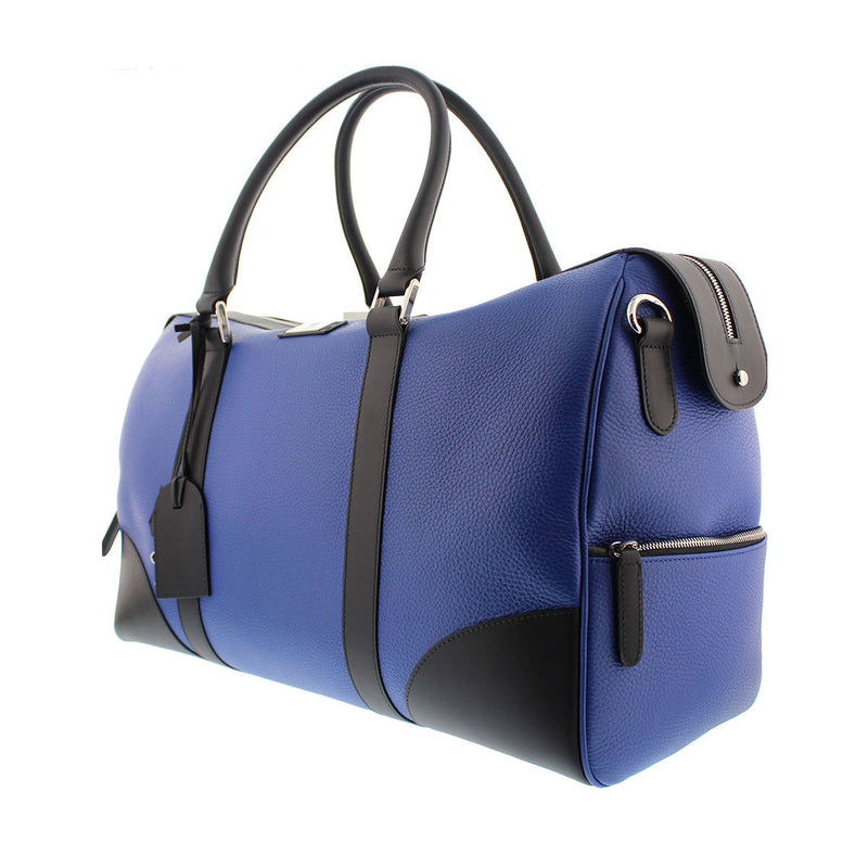 Bicolor Duffel Bag - Royal Blue
