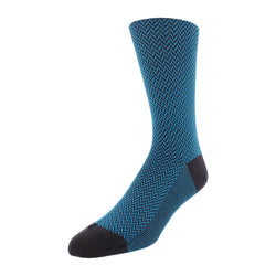 Herringbone Patterned Men's Dress Socks - Charcoal - FINAL SALE