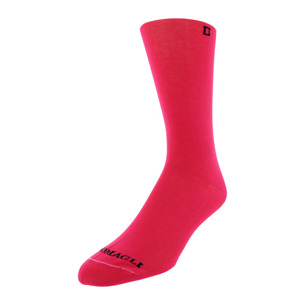 Solid Men's Dress Socks - Pink - FINAL SALE
