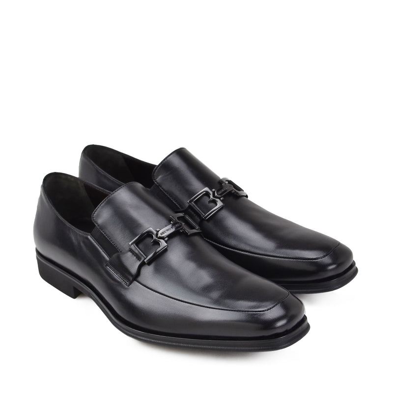 Roberto Bit Loafer - Black Leather