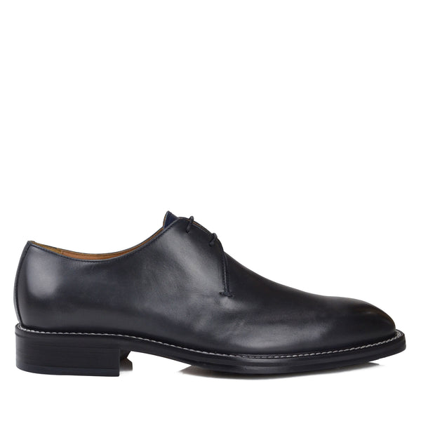 Norris Dress/Casual Oxford - Dark Grey Leather