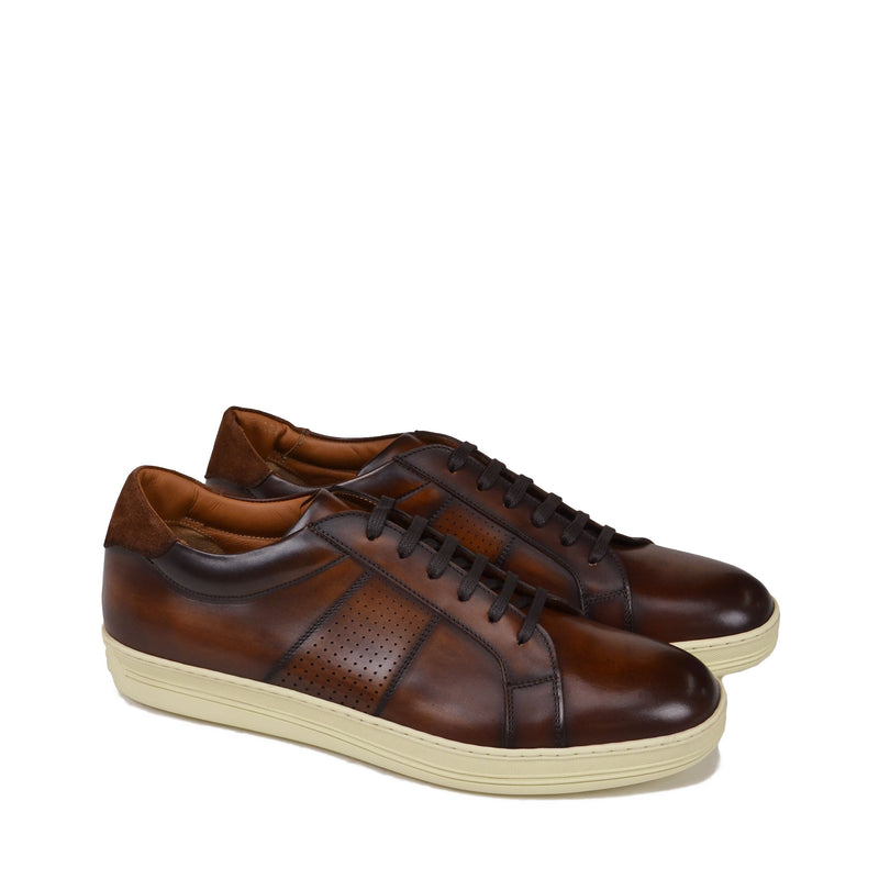 Alvez Leather Sneaker - Brown Leather