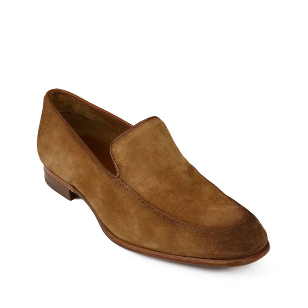 Ivan Suede Slip-on Loafer - Cognac